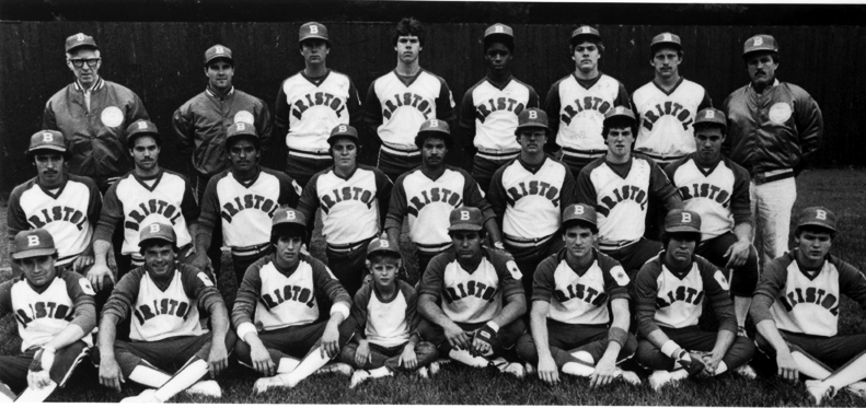 American Legion 1984 State Champions, Northeast Region Champions - Eighth in the World - World Series, New Orleans, LA Bottom row (l to r): Dan Buchanan, Gary Roberge, Craig McCarthy, bat boy PJ Kron, Joe Dess, Rocco Labbadia, Don DeForge, Ken Kron. Middle row: Rick Ouellette, Brian Valentine, Ismael Roman, Mike DeLucia, Ademar Berrios, Bill Masocco, Pat Butler, Nick Vita. Top row: Team Manager Doctor James F. Gilhuly, Head Coach Tom Burns, Asst. Coach Hal Kilby, Bob Kloss, Elliott Pierce, Pat Greene, Assistant Coach Jim Danis, Assistant Manager Paul LaFleur.