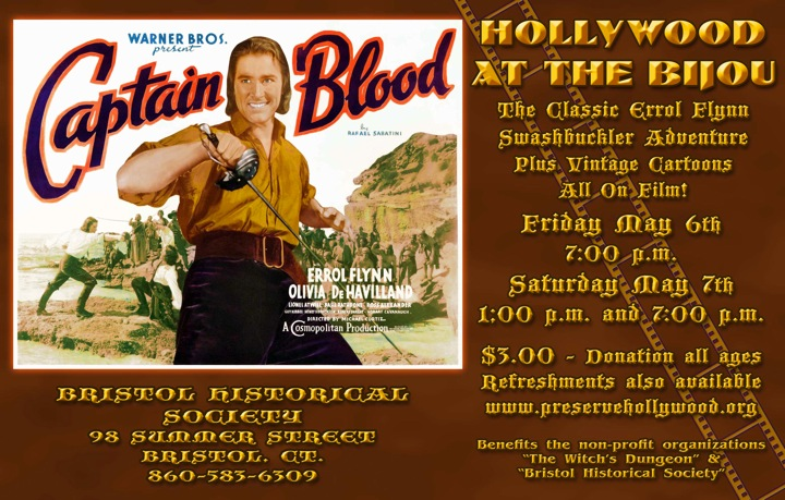 Hollywood At The Bijou Captain Blood Sat 1pm 7pm Bristol